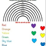 Color the rainbow and match the word to the color