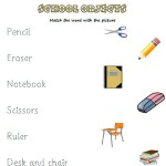 Match the word with the school object