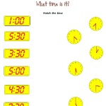 Match the correct time