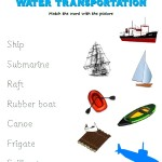 Match the word to the water transportation