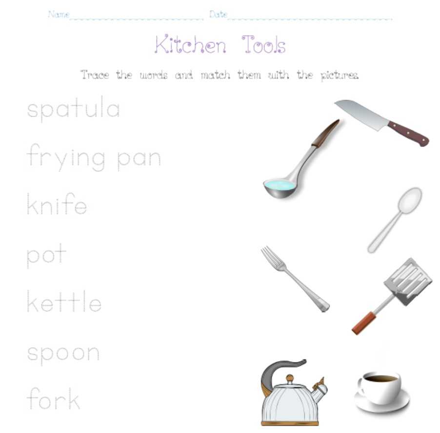 Kitchen Tools Worksheet Smart Kids Worksheets Tools And Machines