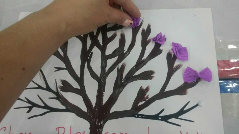 tissue cherry blossom tree
